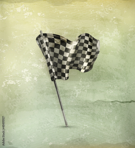 Checkered flag old-style