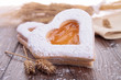 heart shape biscuit