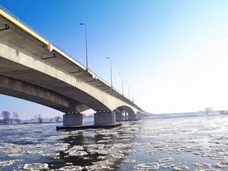 A1 of motorways bridge across a river wisła