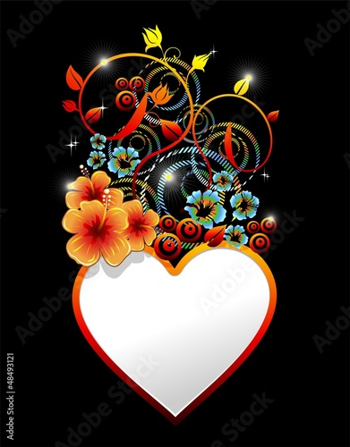 Be my Valentine Heart Love Card-Cartolina a'Amore Auguri-Vector