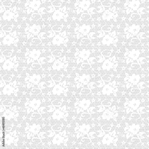 white seamless lace floral pattern