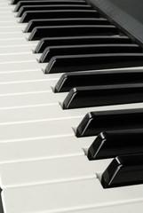 Piano keys running way