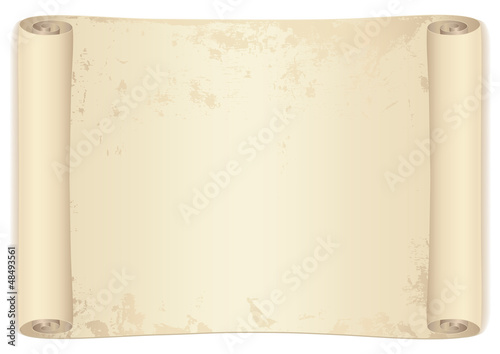 Scroll. Isolated vector illustration on white background