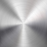 Background with Circular Metal Brushed Texture