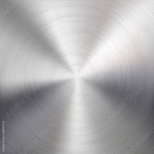 Background with Circular Metal Brushed Texture - 48493713