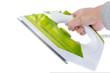 Ironing tool on white background
