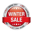sale winter discount red button isolated background