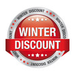winter discount red silver button