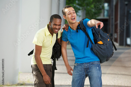 College Students Laughing