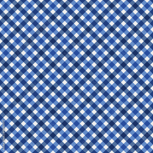 Navy Blue Gingham Fabric  Background
