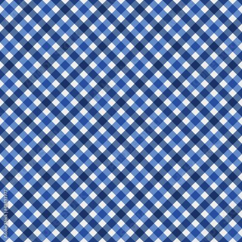 Navy Blue Gingham Fabric  Background