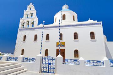 Church of Oia town on Santorini island, Greece