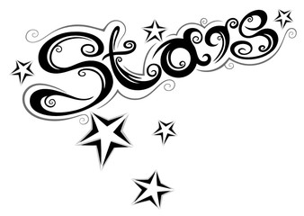 Stars, Sterne, Logo, vector, black & grey