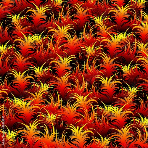 Fire Feather Pattern Texture-Piume di Fuoco Sfondo Astratto