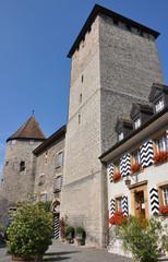 Stadtmauer  und Festung, Murten, Murtensee, Schweiz