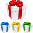 Set Of Gift Boxes With Bows An...