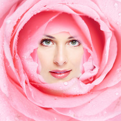 Beautiful woman face flower.