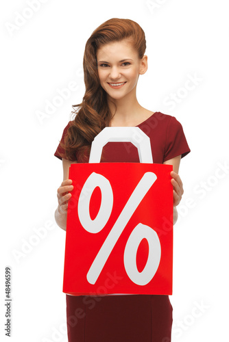 girl with percent sign
