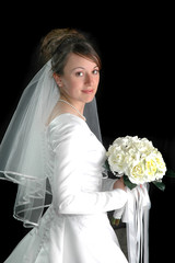 Bride Portrait on Black