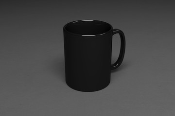 Blank corporate identity cup