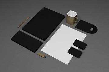 Blank corporate identity elements