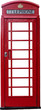 A British telephone box isolated