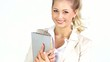 Geschäftsfrau mit Tablet