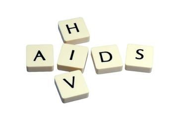 HIV AIDS Buchstabenwürfel