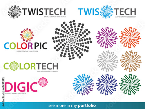 Twist Dot Propeller Company Logo Design