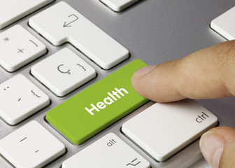 Health keyboard key. Finger