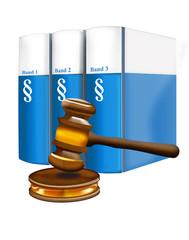 Bürgerliches Gesetzbuch 3 Bände und Gerichtshammer