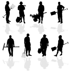 gardener people vector illustartion