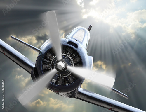 The Fighter. Retro technology theme. - 48499530