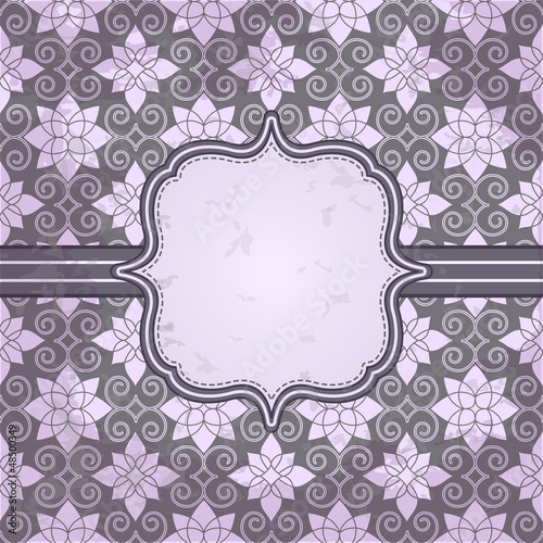 Vector vintage pattern and frame for design