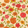 Seamless Vintage Flower Background - for design and scrapbook