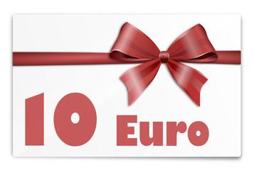 Gutschein Karte 10 Euro