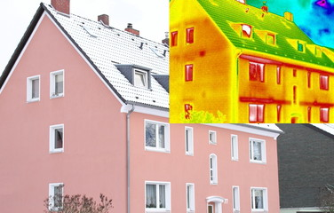 Haus mit Wärmebild