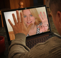 Laptop Video Camera People Chatting