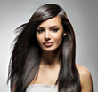 Beautiful woman with long straight hair