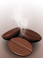 3D Coffee Beans Poster Menu-Chicchi di Caffè Sfondo