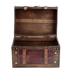 Open vintage bag brown color