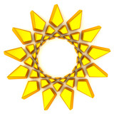 Golden sun frame, 3d