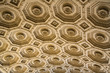 Vintage ceiling floral decorations Altar of the Motherland. Rome