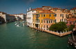 Grand Canal-view from Rialto Bridge.Italy