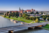 Fototapety Wawel Castle, Vistula river and bridge in Krakow, Poland