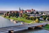 Fototapety Wawel Castle, Vistula river and bridge in Krakow, Poland
