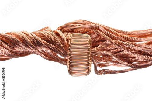 Power consumption in the industry, copper line and coil