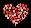 SKULL HEART FOR VALENTINE'S DAY