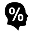 Human face with percent sign