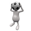 3D People Football Head